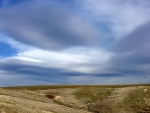 Clouds and prairie