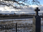 Lone Pine Cemetery with dusting of snow