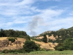 Mott Road fire from Klickitat sand bar posted by TJ Miles