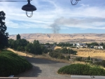 Mott Road fire from daughter's home in The Dalles posted by Sally Ann Donohue