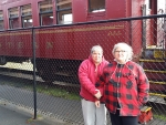 04 Carol & Ida in front of Skunk Train