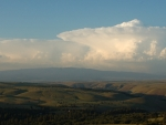 2 Storm cloud anvil over Swale Canyon, Peg Caliendo