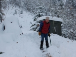 Digging a path to woodshed
