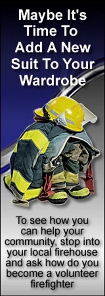 Fire volunteer poster