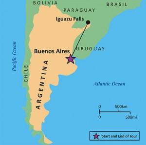 Map - Argentina & Falls