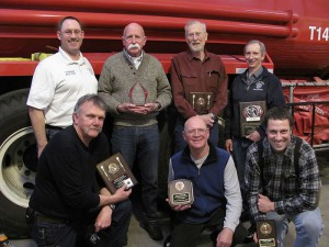 (back, left to right) Chief Tim Darland, Fred Henchell, Jake Jakabosky, Dave Thom, (front, left to right) Tom McMackin, Ron McDonald and James Amery. Photo: Gwen Berry.