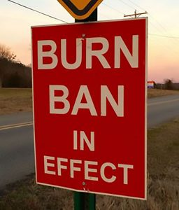 Burn Ban in Effect sign 1